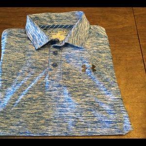 Under Armour blue polo golf shirt youth medium
